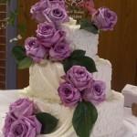 Bolo de Casamento da Noiva com flores