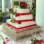 Bolo de Casamento da Noiva vermelho