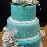 Bolo de Casamento da Noiva azul