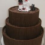 Bolo de Casamento da Noiva chocolate
