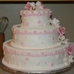 Bolo de Casamento da Noiva rosa