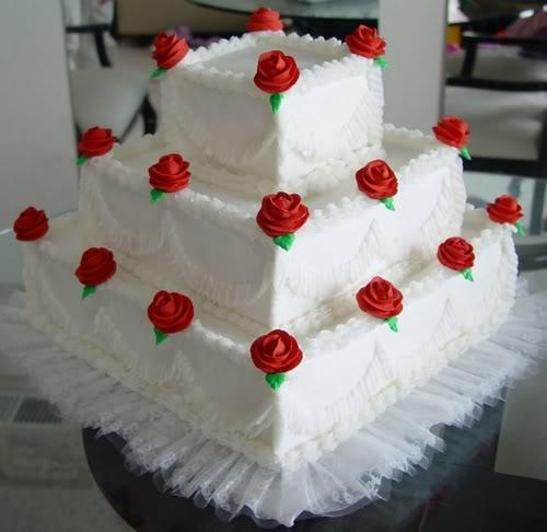 decorar ouro branco:Bolo De Casamento Simples