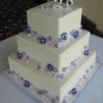 Bolo de Casamento da Noiva quadrado