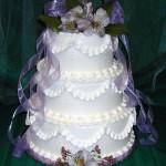 Bolo de Casamento da Noiva bordado