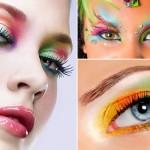 Maquiagem com muita cor