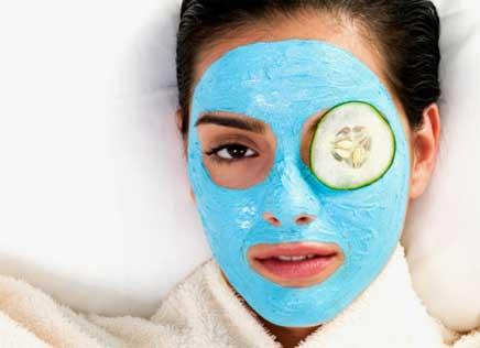 Máscara caseira de rosto