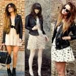 jaqueta em couro preta