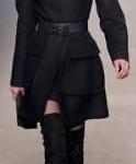 Botas cano alto com casaco